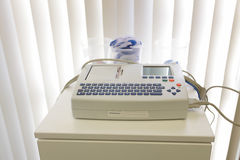 Schiller AT 101SCM Electocardiograph machine ECG Royalty Free Stock Images