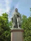 Schiller statue in Frankfurt Royalty Free Stock Image