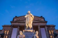 Schiller statue, Konzerthaus Berlin Stock Photo