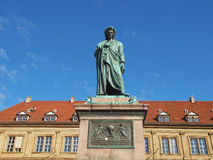 Schiller statue, Stuttgart Royalty Free Stock Photography