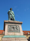 Schiller statue, Stuttgart Royalty Free Stock Photo