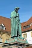 Schiller zabytek przy Schillerplatz w Stuttgart, Niemcy obraz stock