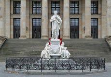 Schillermonument in Berlijn, Duitsland Stock Fotografie