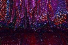 Schillerndes Hintergrundgewebe des Regenbogens Lizenzfreie Stockbilder