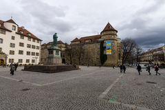 Schillerplatz - kwadrat w starym mieście stuttgart Zdjęcie Stock