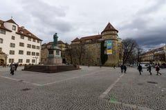 Schillerplatz - Quadrat in der alten Stadt stuttgart Stockfoto