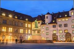 Schillerplatz - Stuttgart, Duitsland royalty-vrije stock afbeeldingen