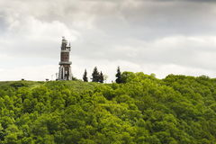 Schillers Lookout near Kryry, Czech republic with blue cloudy sky Royalty Free Stock Images