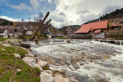 Schiltach on the Kinzig, Black Forest, Rottweil, Germany stock image