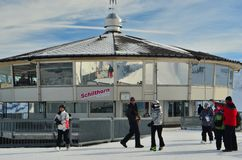 Schilthorn Tourists Royalty Free Stock Images