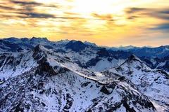 schilthorn zmierzch Fotografia Royalty Free