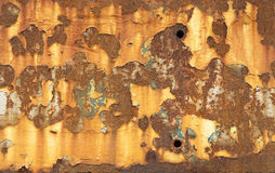 Schilverf en Rusty Metal Stock Foto