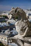 Schimäre auf die Oberseite von Notre-Dame, Paris, Frankreich Lizenzfreie Stockfotografie