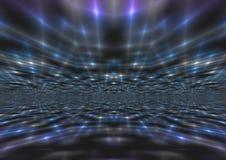 Schimmernder abstrakter Blaulicht-Strahln-Hintergrund Stockbild
