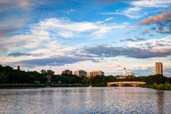 Schimmernder Charles River Stockfoto