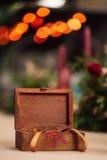 Schimmernder Hintergrund der dekorativen Schatulle Stockfotos