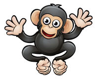 Schimpans Safari Animals Cartoon Character stock illustrationer