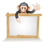 Schimpanse-Zeichen lizenzfreie abbildung