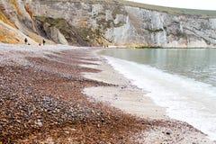 Schindel-Strand, die Nadel-Insel von Wight stockfotos