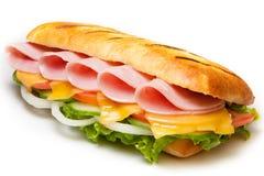 Schinken pannini Sandwich Lizenzfreies Stockbild