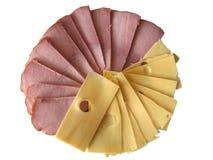 Schinken und Käse stockbilder