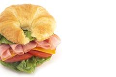 Schinken-und Käse-Sandwich mit Kopfsalat-Käse und Tomaten stockfotografie