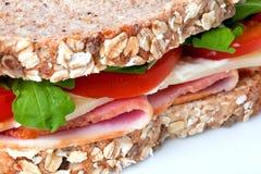 Schinken- und Käsesandwich Stockbild