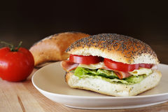 Schinken- und Käsesandwich Lizenzfreies Stockbild