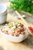 Schinken und Reis lizenzfreie stockbilder