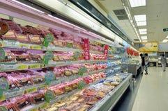 Schinkenfleisch im Jusco Markt Stockbild