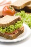 Schinkensandwich lizenzfreies stockbild