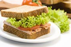 Schinkensandwich stockfoto