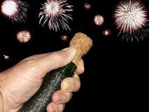 Schioccare del sughero di celebrazione Immagine Stock