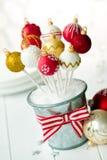 Schiocchi del dolce della bagattella di Natale Fotografia Stock Libera da Diritti