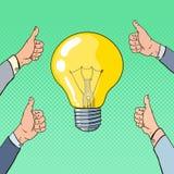 Schiocco Art Business Idea Concept con la lampadina Immagine Stock