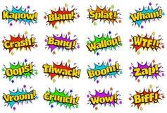 Schiocco Art Comic Sound Effects Bubbles Immagini Stock Libere da Diritti