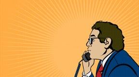Schiocco Art Comics Man Illustrazione di riserva di vettore Immagini Stock Libere da Diritti