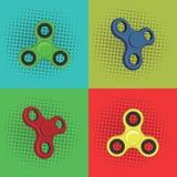 Schiocco Art Fidget Spinner, bambini giocattolo, divertimento, progettazione di vettore, illustrazione Fotografia Stock