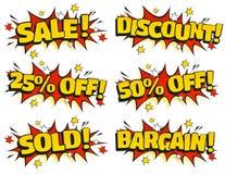 Schiocco Art Retail Sale Signs Fotografie Stock Libere da Diritti