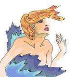 Schiocco Art Style Mod Girl Fotografia Stock Libera da Diritti