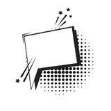 Schiocco Art Style Social Media Communication dell'icona della bolla di chiacchierata Immagine Stock