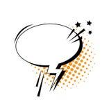 Schiocco Art Style Social Media Communication dell'icona della bolla di chiacchierata Fotografie Stock