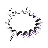 Schiocco Art Style Social Media Communication dell'icona della bolla di chiacchierata Fotografia Stock Libera da Diritti