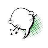 Schiocco Art Style Social Media Communication dell'icona della bolla di chiacchierata Immagini Stock