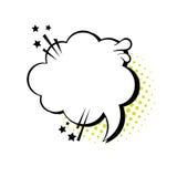 Schiocco Art Style Social Media Communication dell'icona della bolla di chiacchierata Fotografia Stock