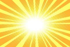 Schiocco Art Yellow Background illustrazione di stock
