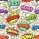 Schiocco comico Art Seamless Pattern illustrazione vettoriale