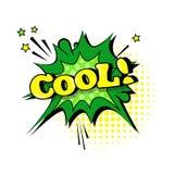 Schiocco comico Art Style Social Media Communication dell'icona della bolla di chiacchierata di Stciker Fotografia Stock