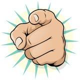 Schiocco d'annata Art Pointing Hand Immagini Stock