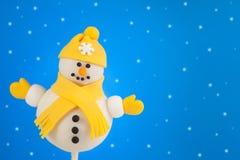 Schiocco della torta del pupazzo di neve Fotografie Stock